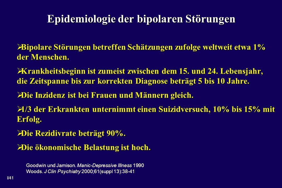 Epidemiologie der bipolaren Störungen