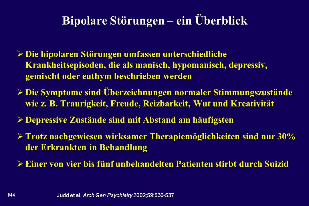 Bipolare Störungen – ein Überblick