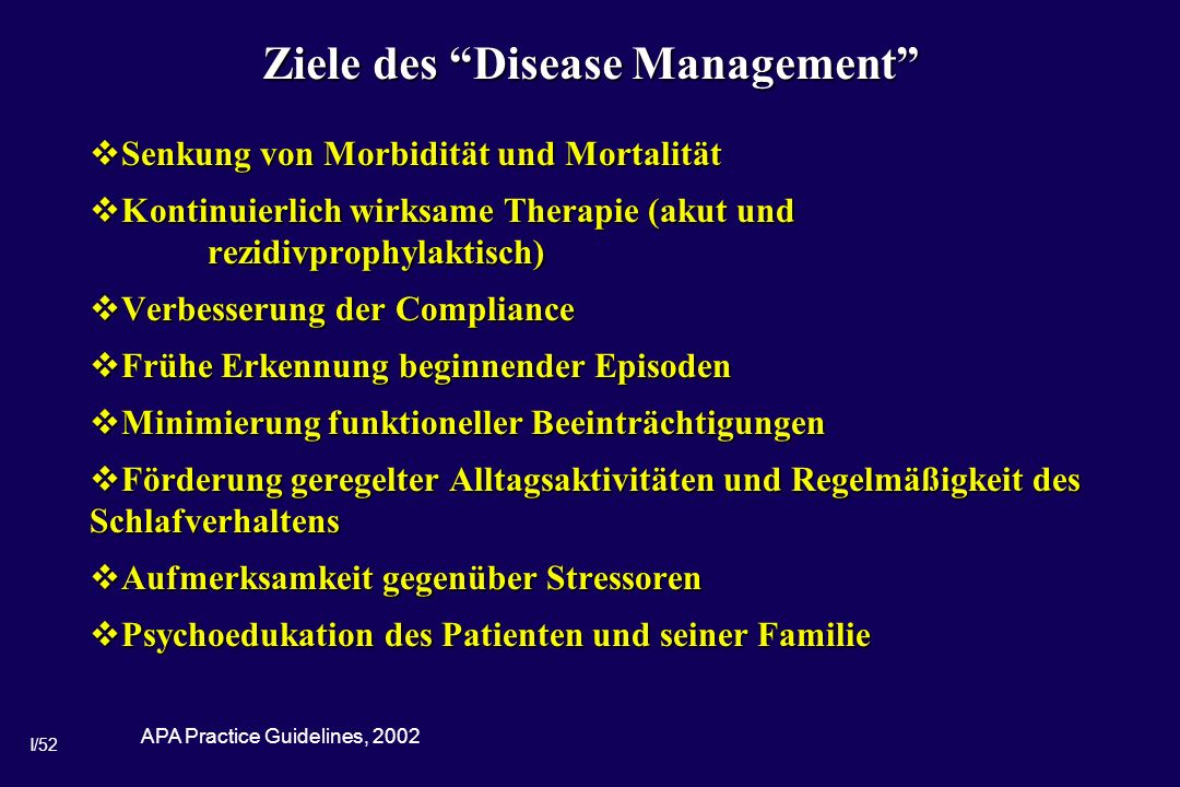 Ziele des Disease Management