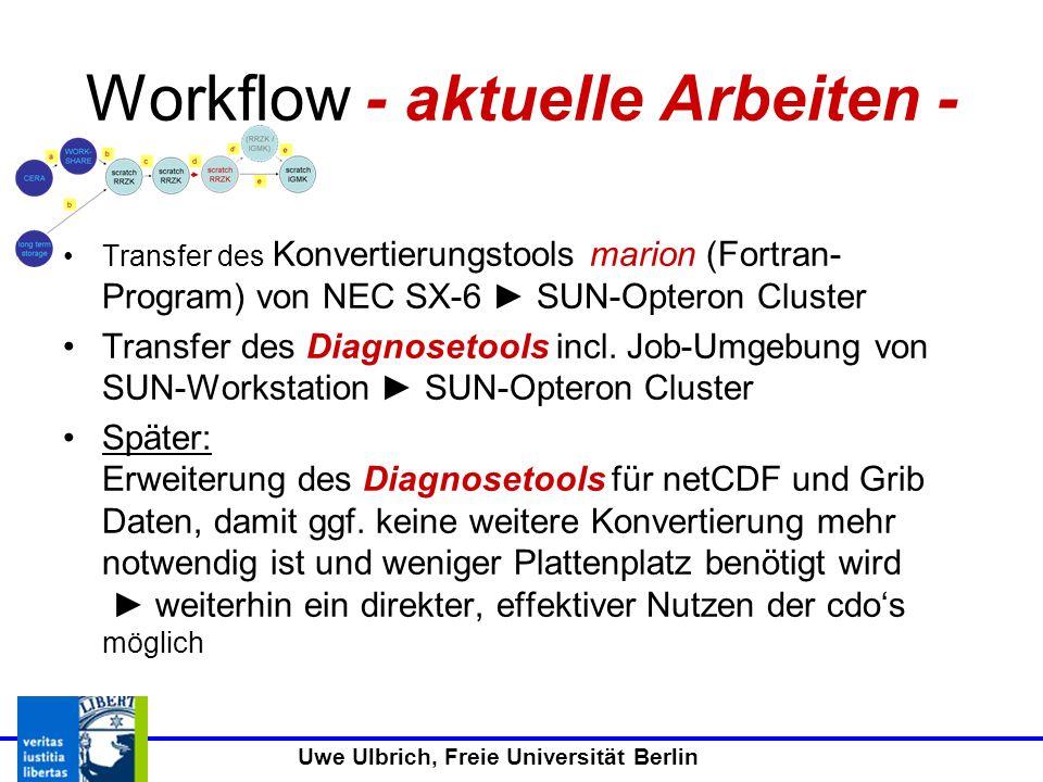 Workflow - aktuelle Arbeiten -