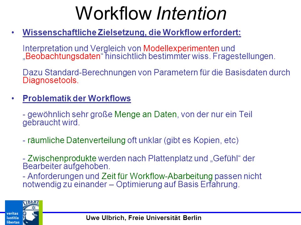 Workflow Intention