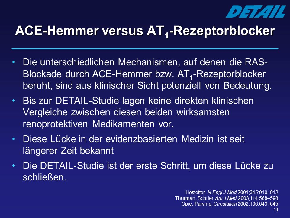 ACE-Hemmer versus AT1-Rezeptorblocker