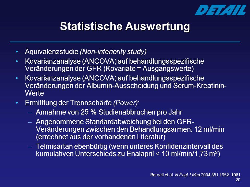 Statistische Auswertung