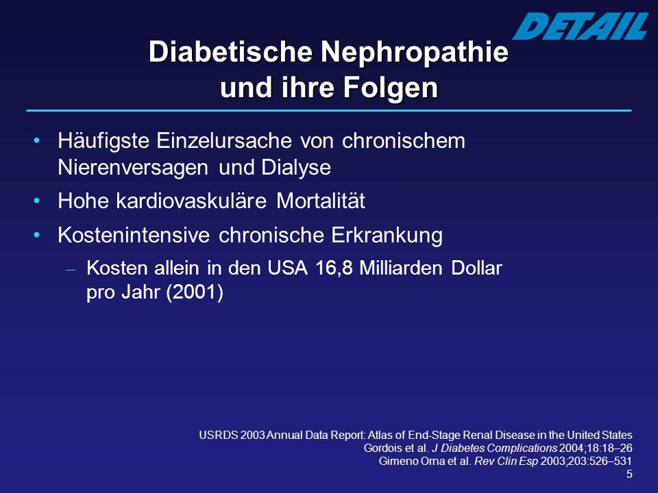 Diabetische Nephropathie und ihre Folgen