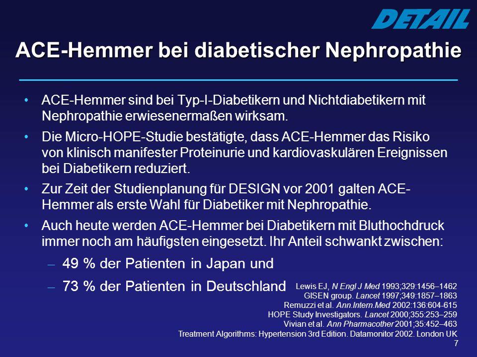 ACE-Hemmer bei diabetischer Nephropathie