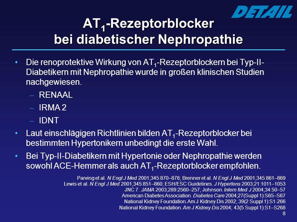 AT1-Rezeptorblocker bei diabetischer Nephropathie