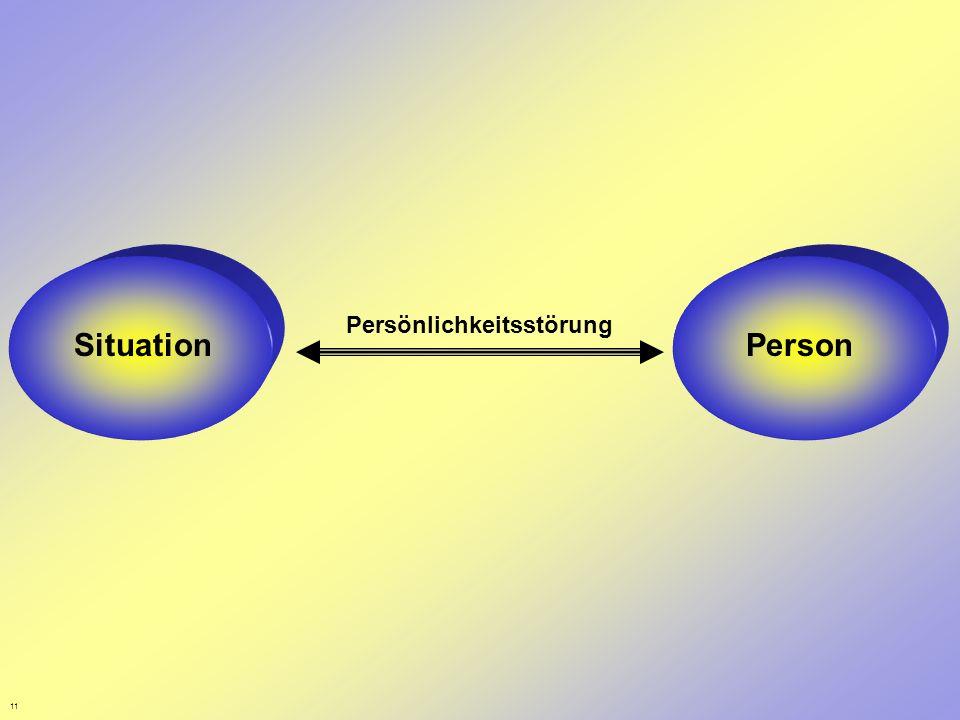 Person Persönlichkeitsstörung Situation Person