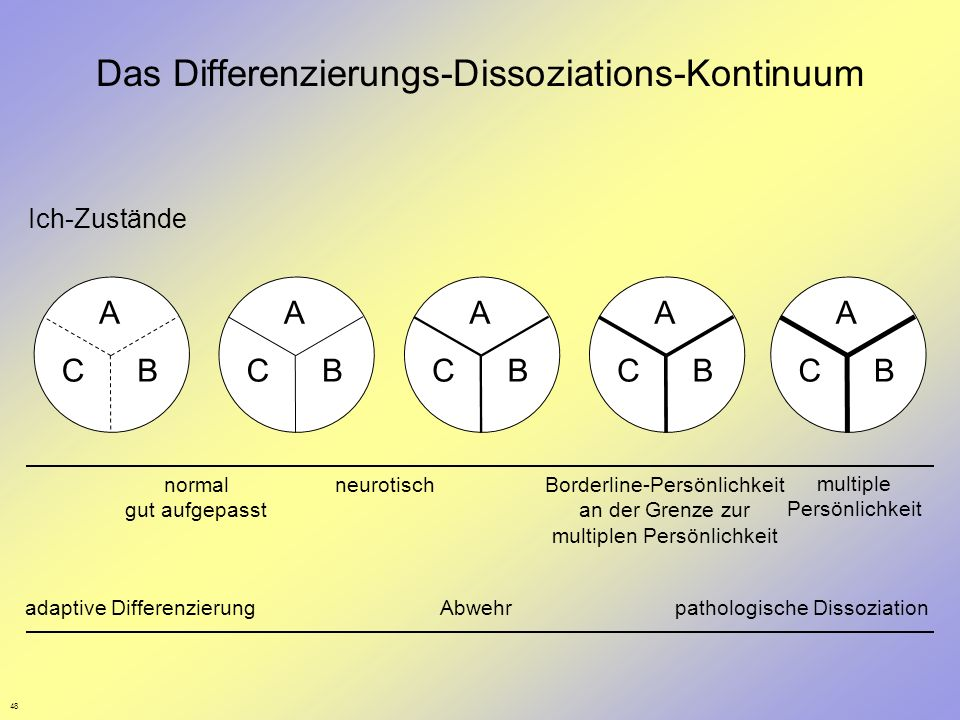 Das Differenzierungs-Dissoziations-Kontinuum