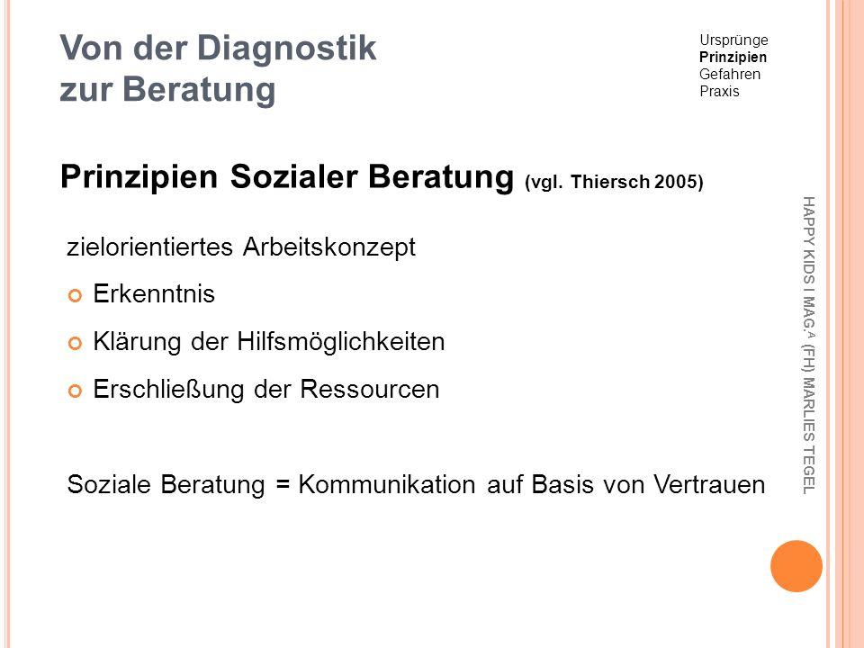 Von der Diagnostik zur Beratung