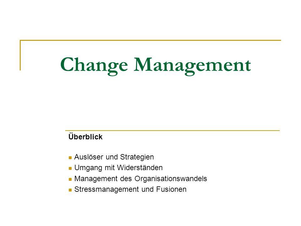 Change Management Überblick Auslöser und Strategien