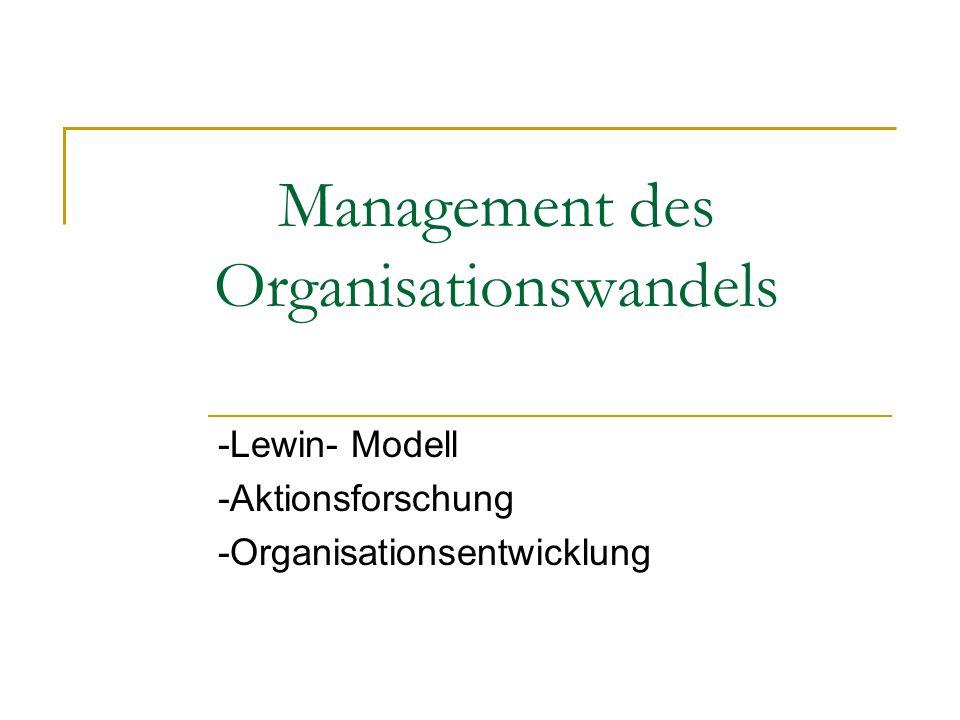 Management des Organisationswandels