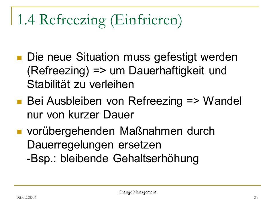 1.4 Refreezing (Einfrieren)
