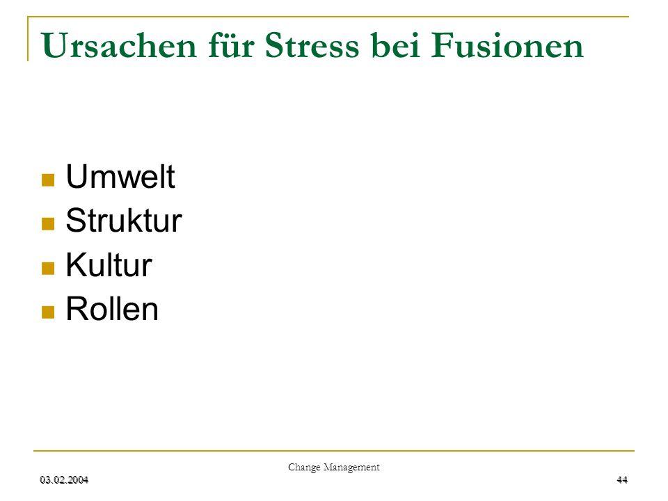 Ursachen für Stress bei Fusionen