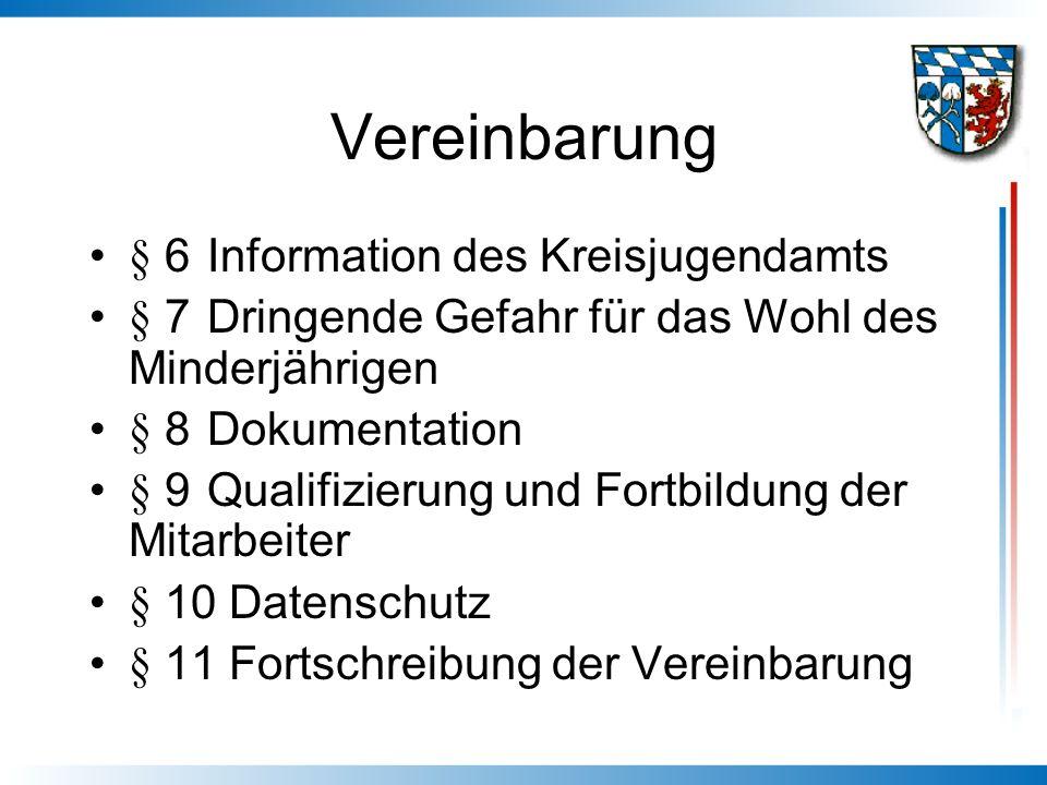 Vereinbarung § 6 Information des Kreisjugendamts