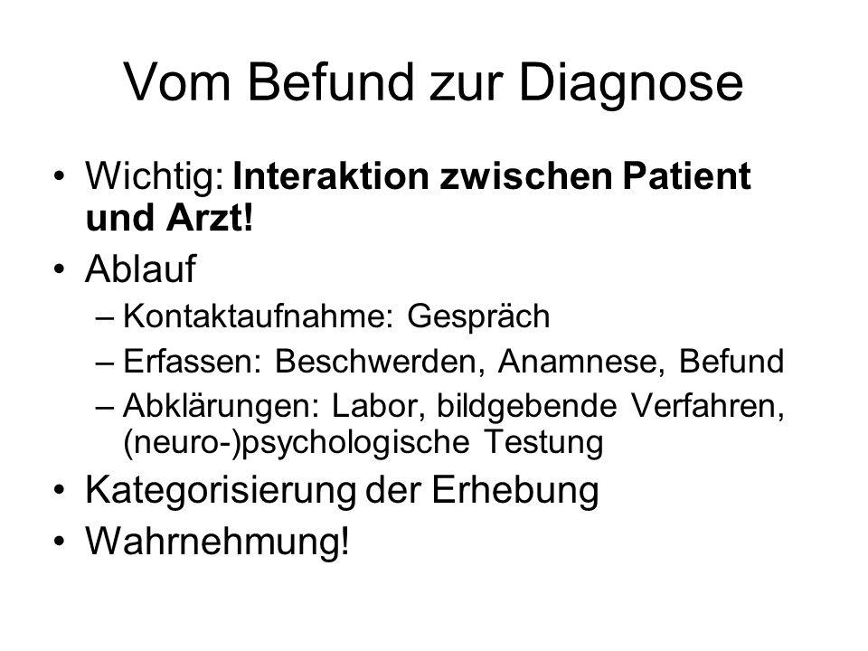 Vom Befund zur Diagnose