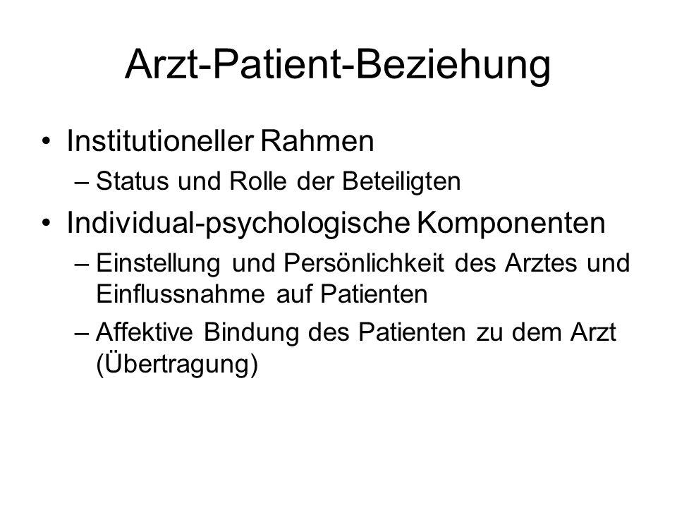 Arzt-Patient-Beziehung