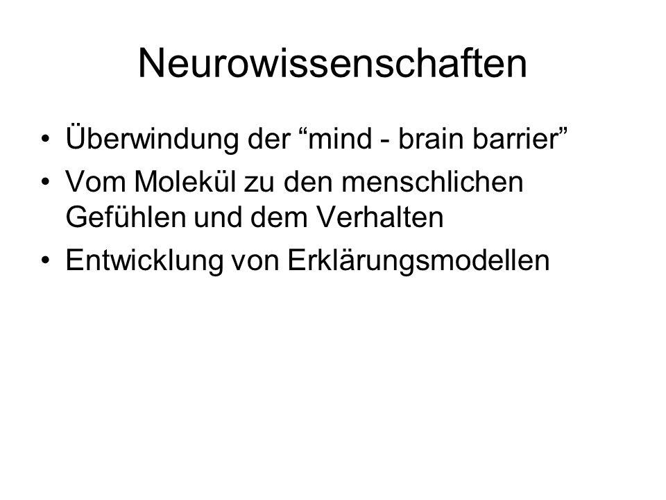 Neurowissenschaften Überwindung der mind - brain barrier