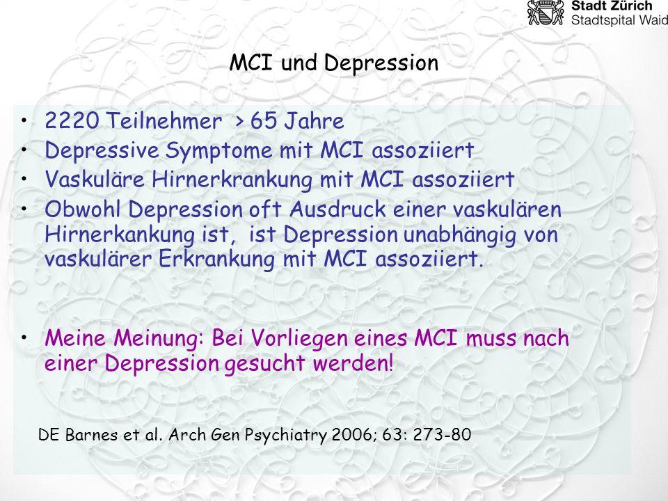Depressive Symptome mit MCI assoziiert
