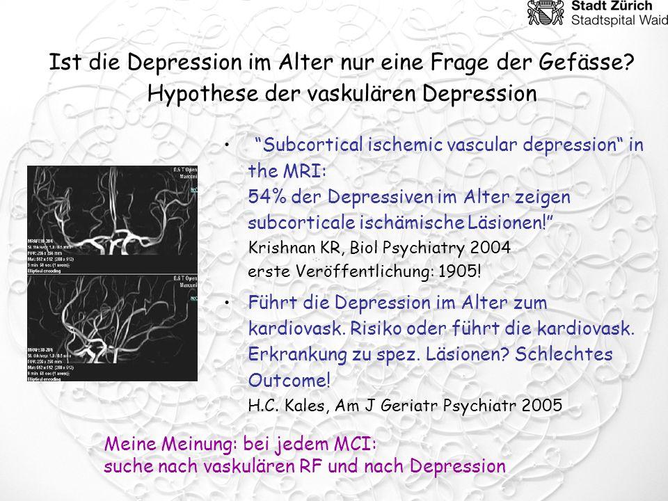 Ist die Depression im Alter nur eine Frage der Gefässe