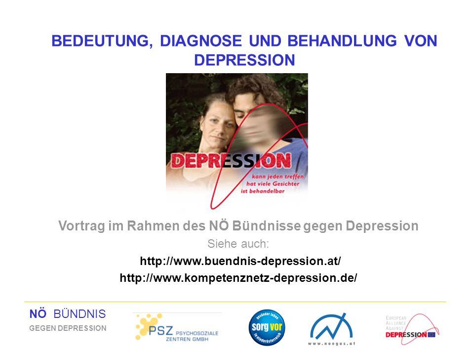 BEDEUTUNG, DIAGNOSE UND BEHANDLUNG VON DEPRESSION