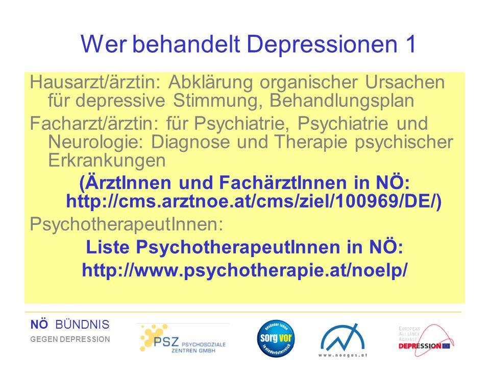 Wer behandelt Depressionen 1