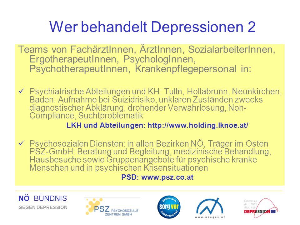 Wer behandelt Depressionen 2
