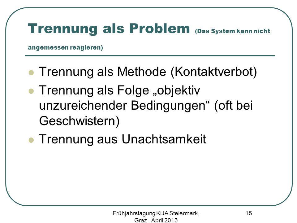Trennung als Problem (Das System kann nicht angemessen reagieren)