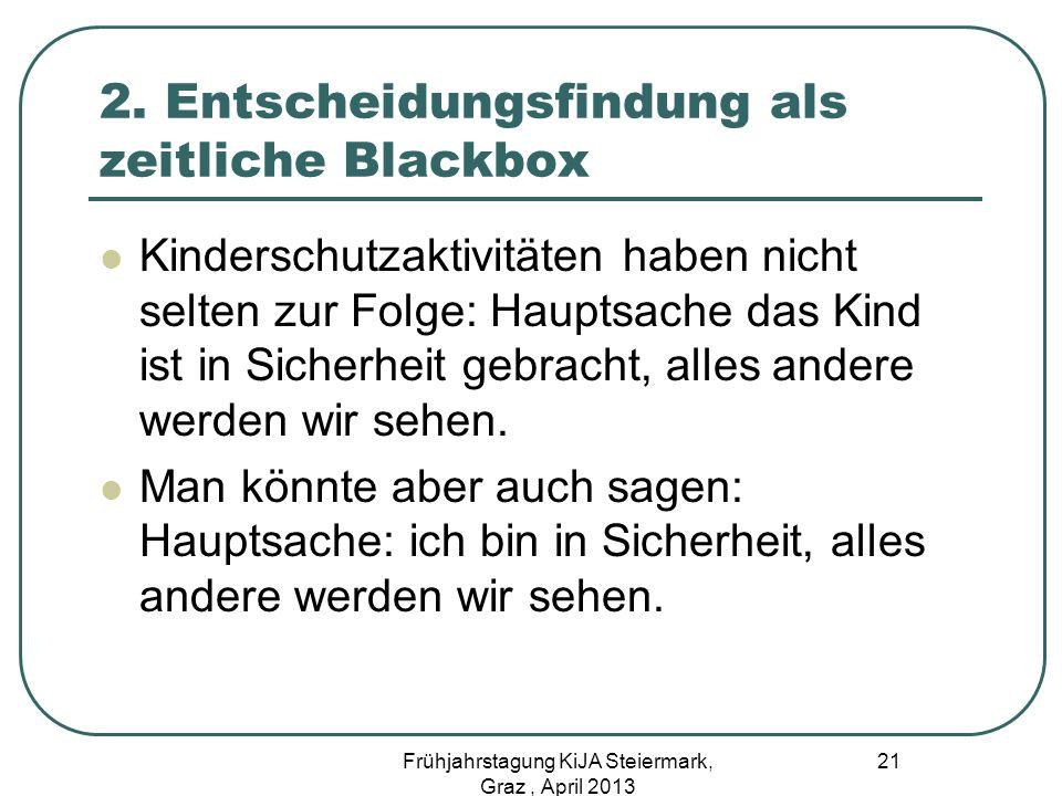 2. Entscheidungsfindung als zeitliche Blackbox