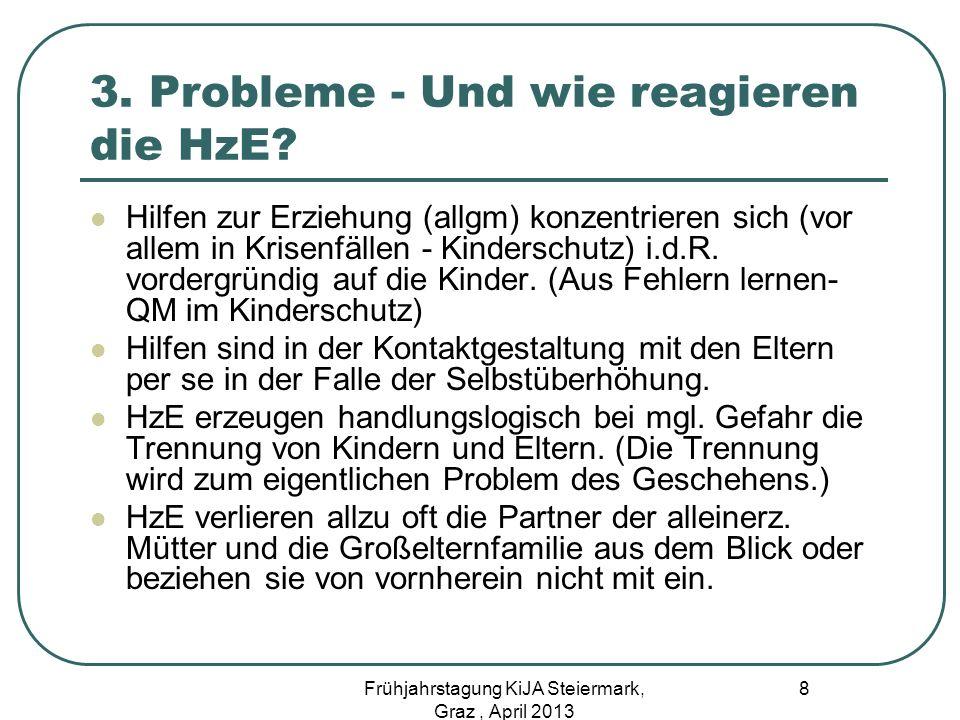3. Probleme - Und wie reagieren die HzE