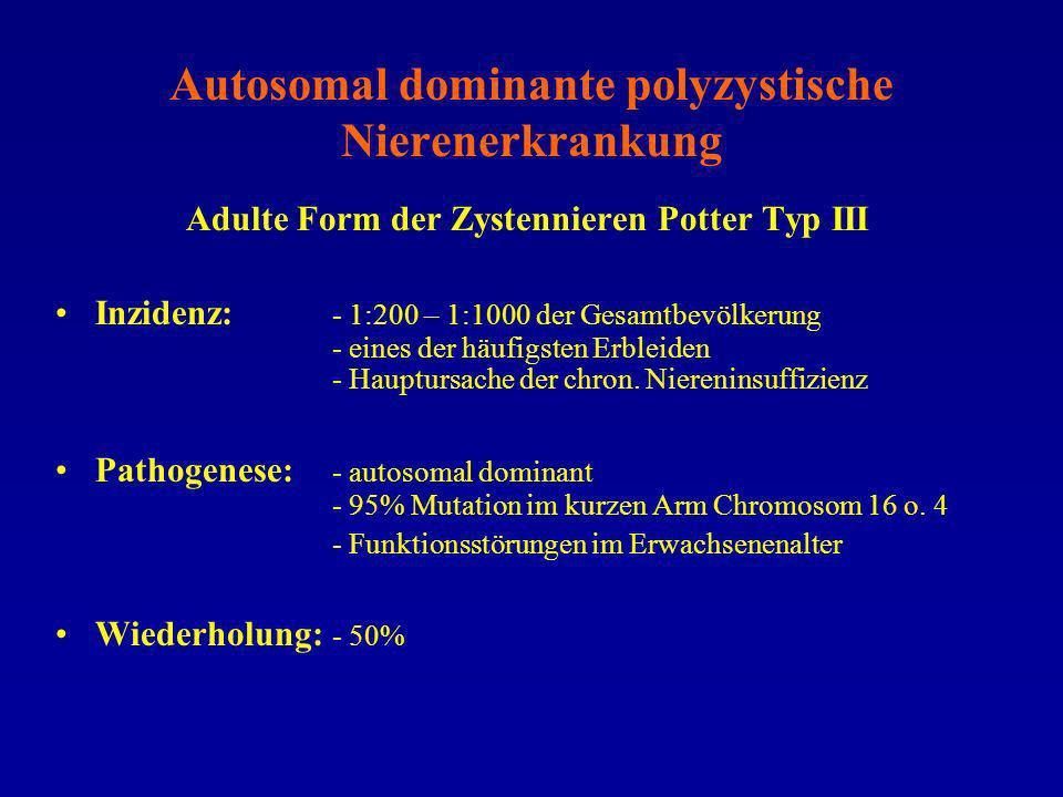 Autosomal dominante polyzystische Nierenerkrankung