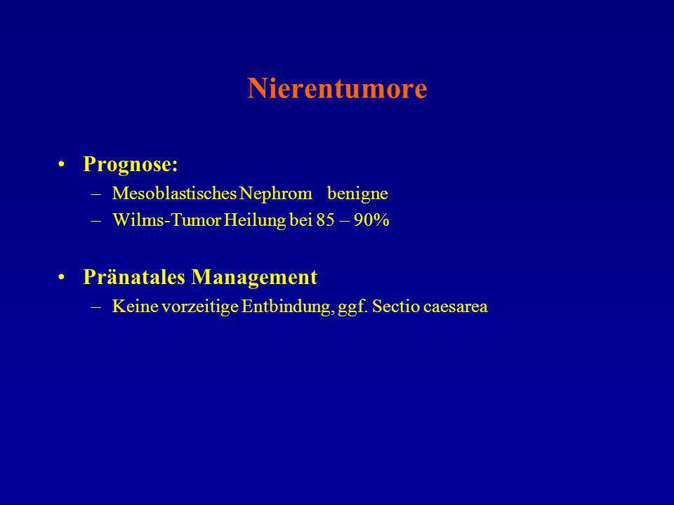 Nierentumore Prognose: Pränatales Management