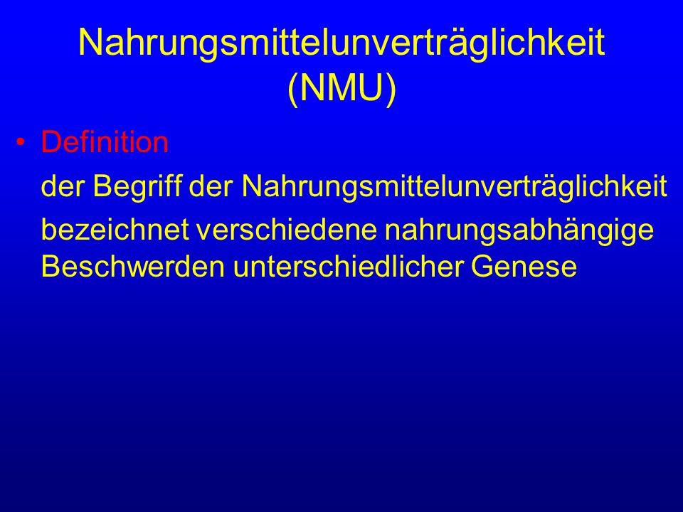 Nahrungsmittelunverträglichkeit (NMU)