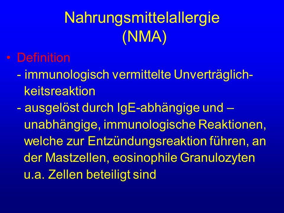 Nahrungsmittelallergie (NMA)