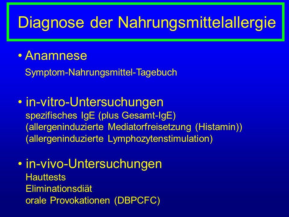 Diagnose der Nahrungsmittelallergie