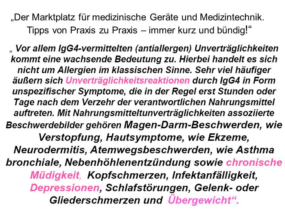 """""""Der Marktplatz für medizinische Geräte und Medizintechnik."""