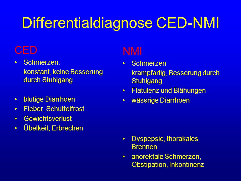 Differentialdiagnose CED-NMI