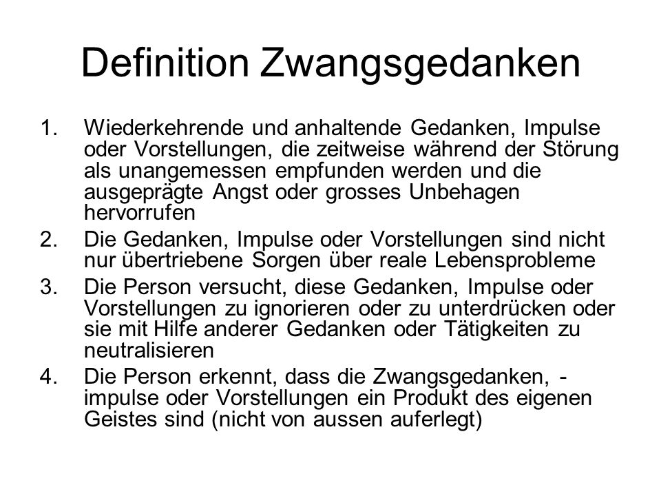 Definition Zwangsgedanken