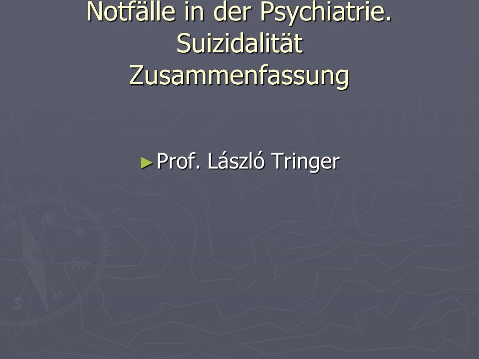 Notfälle in der Psychiatrie. Suizidalität Zusammenfassung
