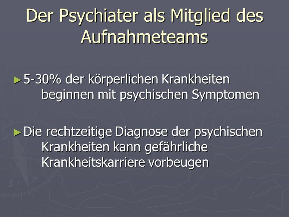 Der Psychiater als Mitglied des Aufnahmeteams
