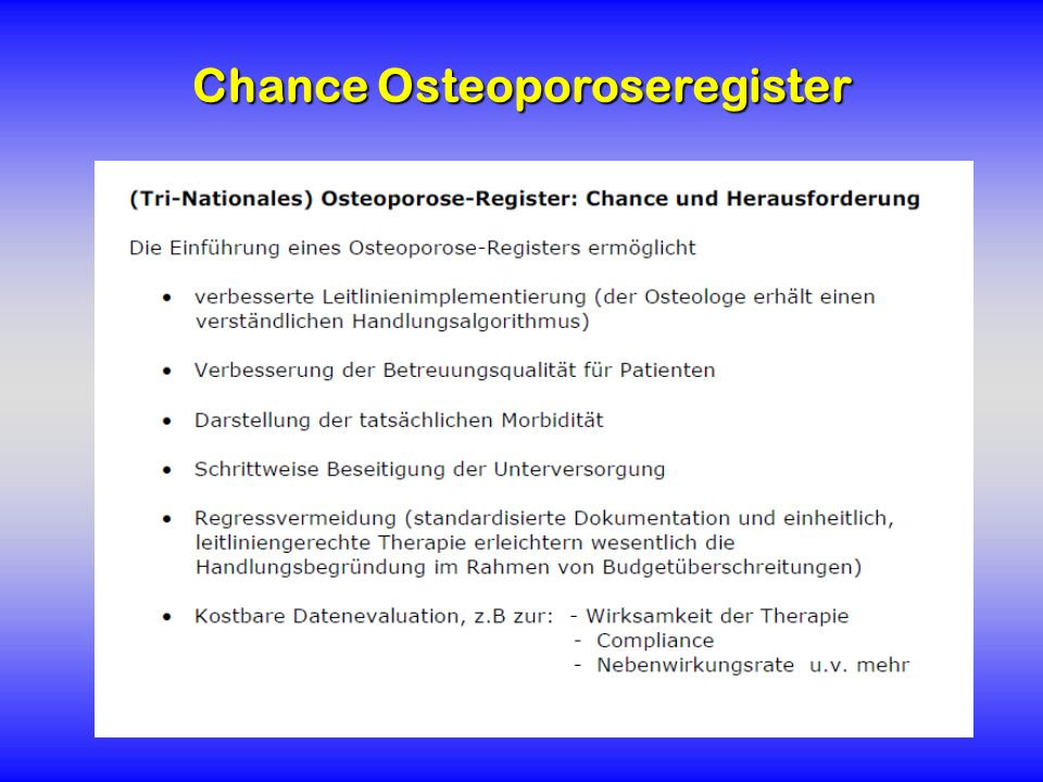 Chance Osteoporoseregister