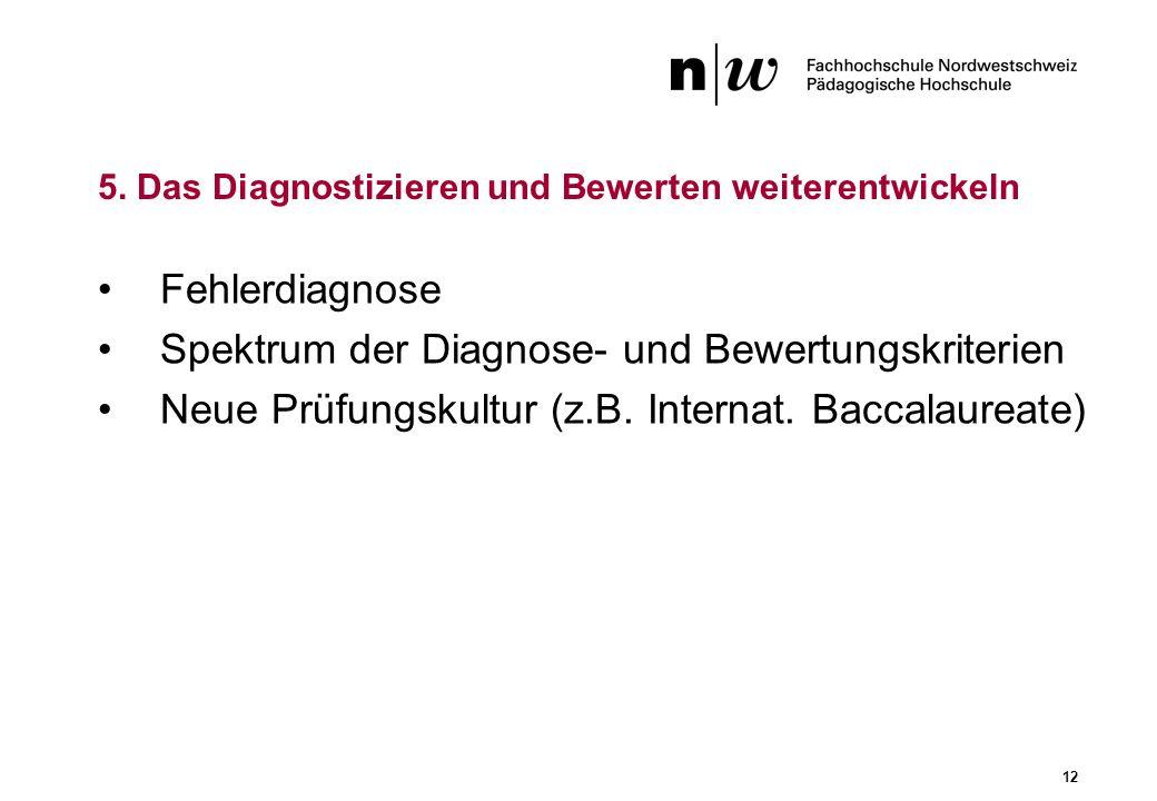 5. Das Diagnostizieren und Bewerten weiterentwickeln