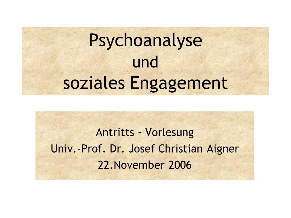 Psychoanalyse und soziales Engagement