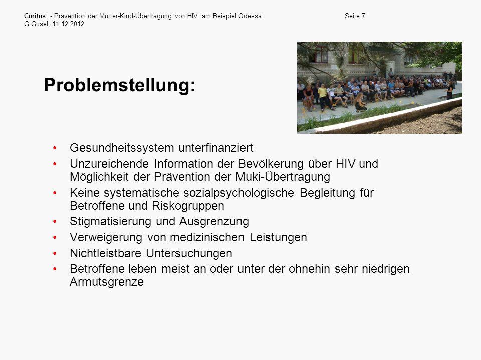 Problemstellung: Gesundheitssystem unterfinanziert