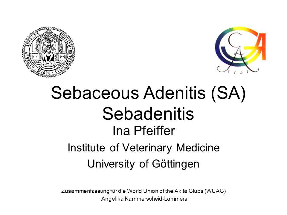 Sebaceous Adenitis (SA) Sebadenitis