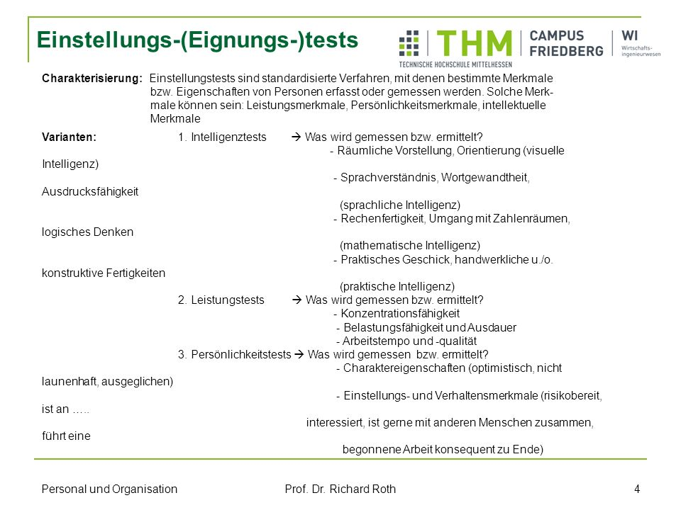 Einstellungs-(Eignungs-)tests