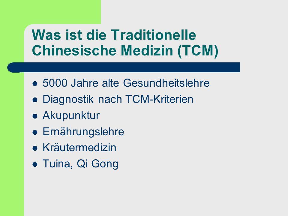 Was ist die Traditionelle Chinesische Medizin (TCM)