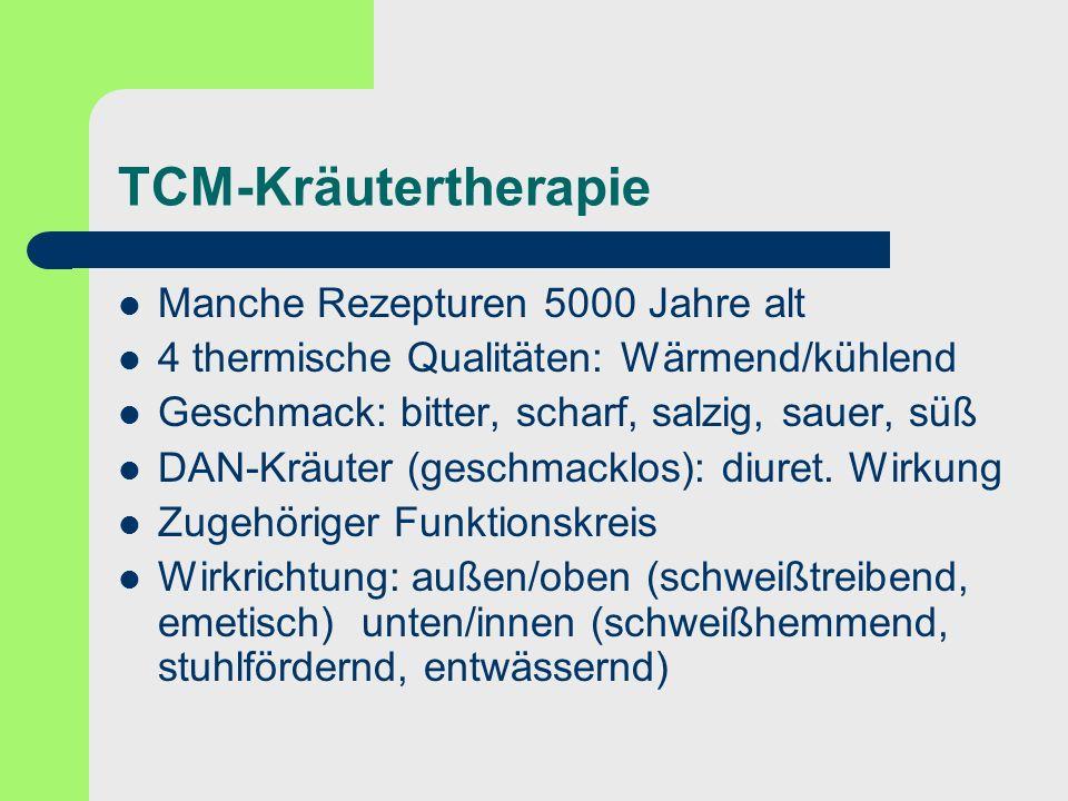 TCM-Kräutertherapie Manche Rezepturen 5000 Jahre alt