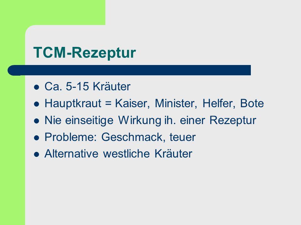 TCM-Rezeptur Ca. 5-15 Kräuter