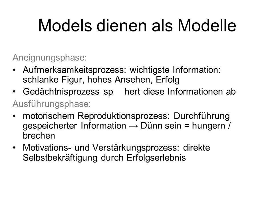 Models dienen als Modelle