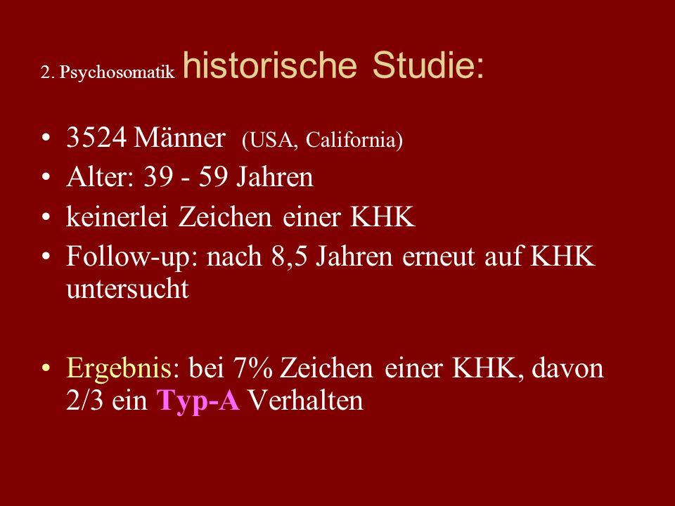2. Psychosomatik historische Studie: